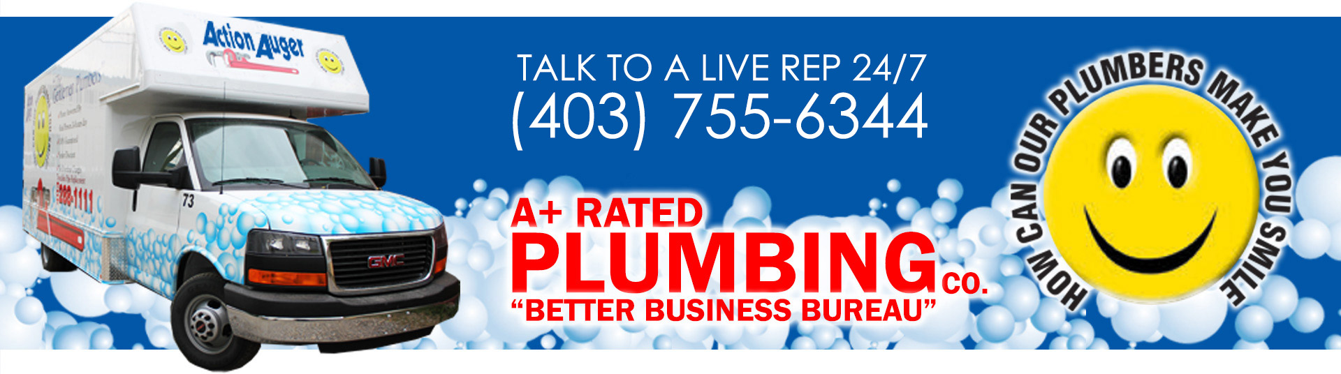 Red Deer Plumbing Truck Bubbles